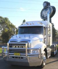 Mack Granite FUPS compliant polished custom bullbar      #20