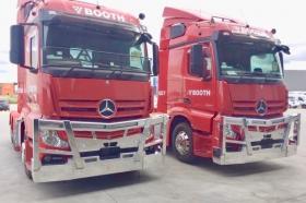Mercedes Benz Actros Road Train Polished Aluminium Bullbars      #2
