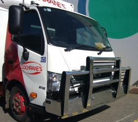 "Hino 300 series ""I"" upright beam high tensile aluminium bullbar              #4"