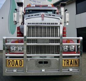 KW T900/T908/T909/T950 Fups Compliant Custom Built Road Train High Tensile Aluminium Bullbar   # 66