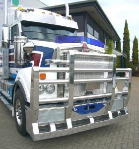 Kenworth T610SAR Road Tain FUPS Compliant Polished Alloy cCtom Built Bullbar       #65