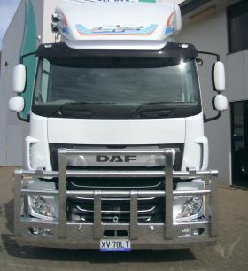 DAF 2020 CF ( Euro 6 ) polished custom alloy bullbar     #3
