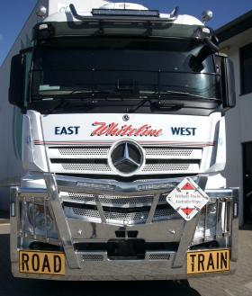 Mercedes Benz Actros 2658 Fups Compliant Road Train Polished AluminiumBullbar        #3
