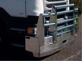 SCANIA R480 FUPS high tensile polished alloy bull bar             #14